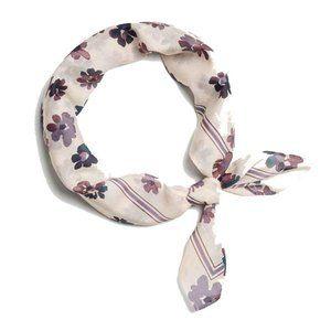 Rag & Bone Floral Bandana Scarf - silk blend